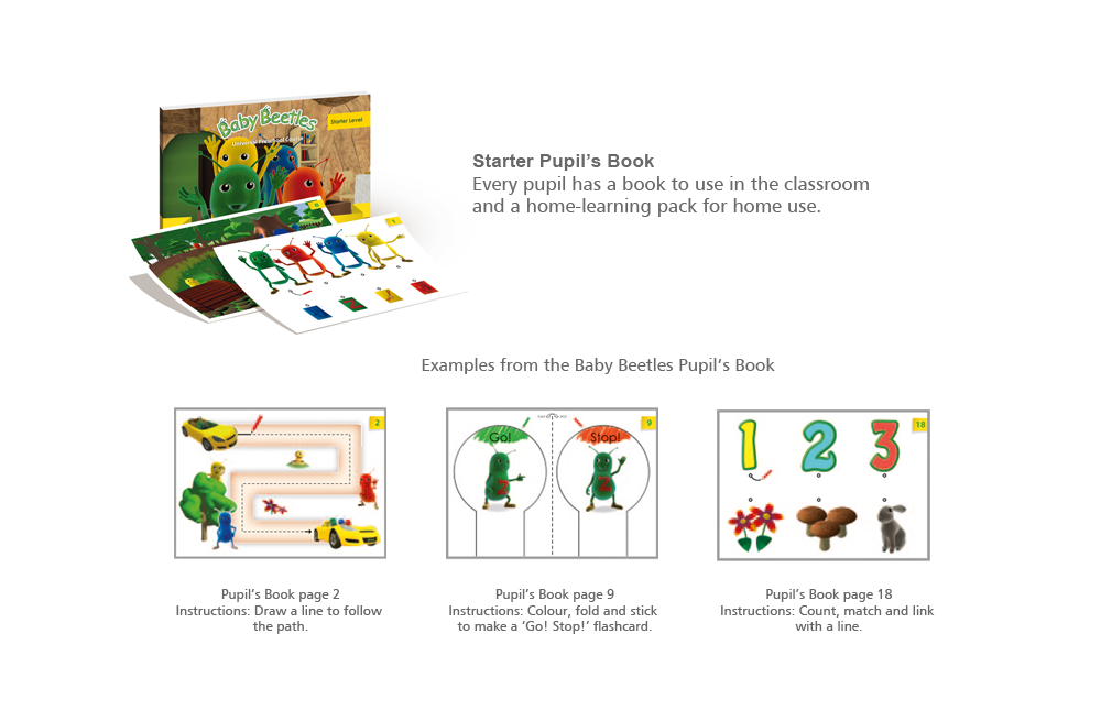 Pupil's Book – Starter Level with the Baby Beetles